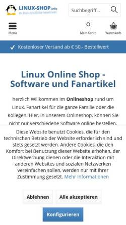 Vorschau der mobilen Webseite www.linuxisos.de, Freies OpenSource Unternehmen, Chris Unger