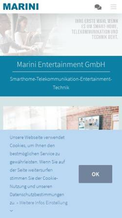 Vorschau der mobilen Webseite www.marini.tv, Marini Entertainment GmbH