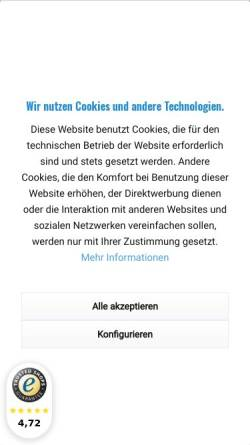 Vorschau der mobilen Webseite www.akkuline.de, AkkuLine OHG