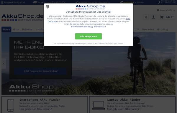Vorschau von www.akkushop.de, AkkuShop.de, Inh. Monika Müller