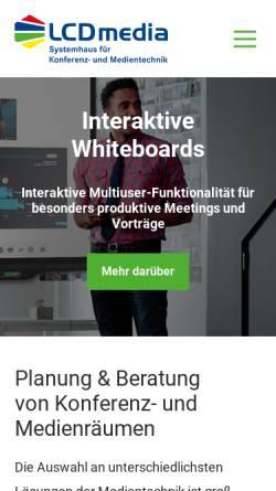Vorschau der mobilen Webseite www.lcdmedia.de, LCD media GmbH