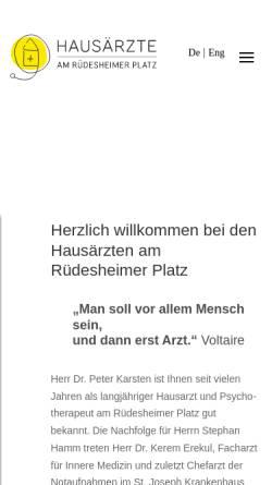 Vorschau der mobilen Webseite www.praxis-karsten-hamm.de, Karsten/Hamm/Klose