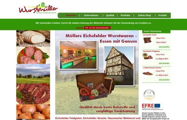 Vorschau von xn--wurstmller-feb.de, Wurstmüller - Eichsfelder Feldkieker Wurst