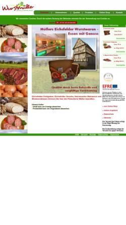 Vorschau der mobilen Webseite xn--wurstmller-feb.de, Wurstmüller - Eichsfelder Feldkieker Wurst
