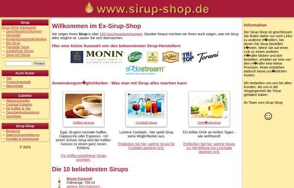 Vorschau von www.sirup-shop.de, Michael Heberle Sirup-Shop