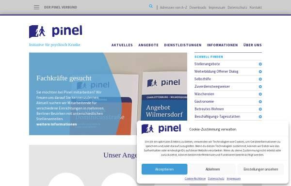 Vorschau von www.pinel.de, Pinel gGmbH - Initiative für psychisch Kranke in Berlin