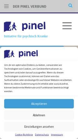 Vorschau der mobilen Webseite www.pinel.de, Pinel gGmbH - Initiative für psychisch Kranke in Berlin