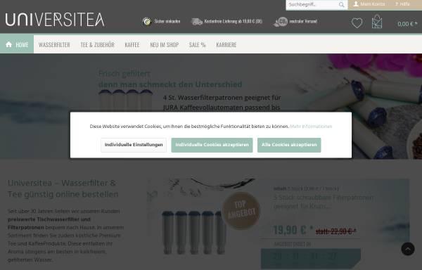 Vorschau von www.universitea.de, Universitea of Tea Teehaus und Teeversand GmbH