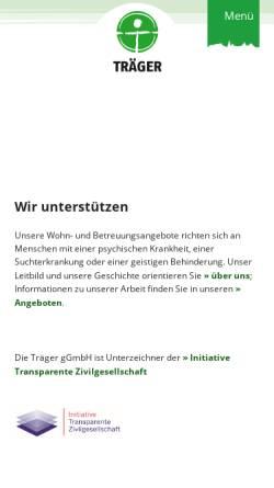 Vorschau der mobilen Webseite www.traeger-berlin.de, Träger e.V.