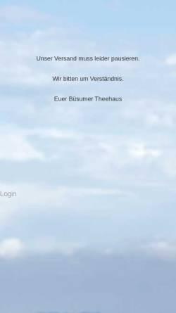 Vorschau der mobilen Webseite buesumer-theehaus.de, Büsumer Theehaus, Erik Pramschüfer