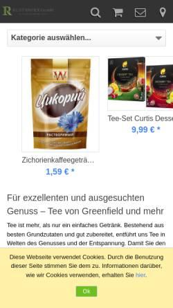 Vorschau der mobilen Webseite rust-impex.de, Rust-Impex GmbH
