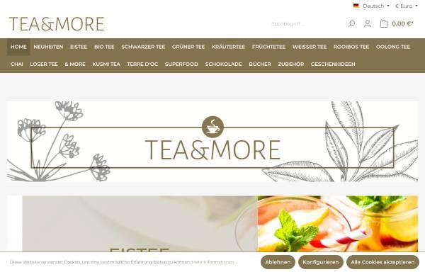 Vorschau von www.teaandmore.de, Tea and More, Onlinehandel UG
