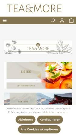 Vorschau der mobilen Webseite www.teaandmore.de, Tea and More, Onlinehandel UG
