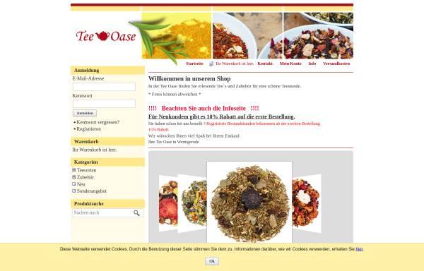 Vorschau von tee-oase-wernigerode.de, Tee Oase, Anja Hauser