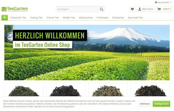 Vorschau von www.teegarten-shop.de, TeeGarten Shop, Miyako Schaefer