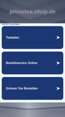 Vorschau der mobilen Webseite primetea-shop.de, Primetea, Mario Ganß