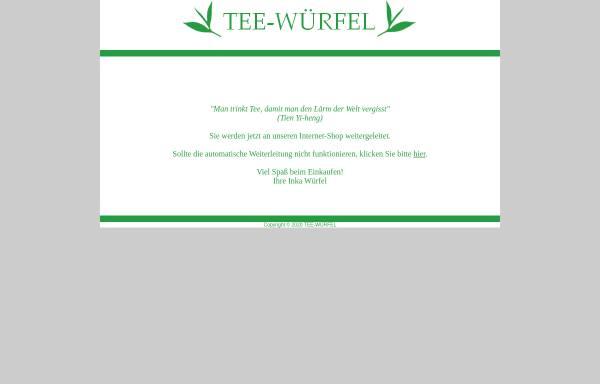 Vorschau von tee-wuerfel.de, Tee-Würfel, Inka Würfel
