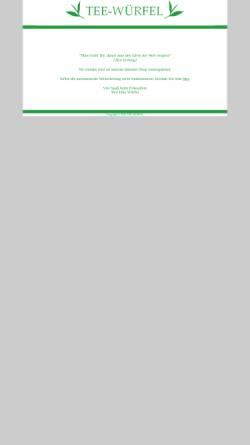 Vorschau der mobilen Webseite tee-wuerfel.de, Tee-Würfel, Inka Würfel