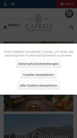 Vorschau der mobilen Webseite capreo.com, Rhiem Distribution Systems GmbH