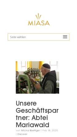 Vorschau der mobilen Webseite miasa.world, Miasa GmbH