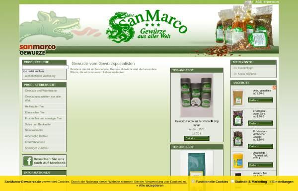 Vorschau von www.sanmarco-gewuerze.de, SanMarco-Gewürze, Manfred zur Hörst