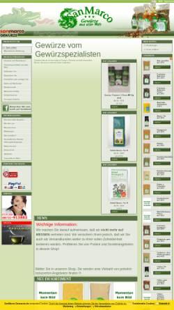 Vorschau der mobilen Webseite www.sanmarco-gewuerze.de, SanMarco-Gewürze, Manfred zur Hörst