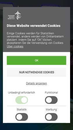 Vorschau der mobilen Webseite tww-berlin.de, Theodor-Wenzel-Werk e.V.