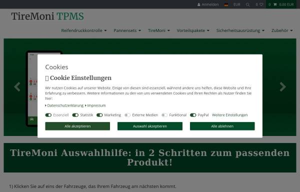 Vorschau von shop.tiremoni.com, TPM Technology Products Marketing GmbH