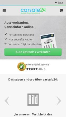 Vorschau der mobilen Webseite www.carsale24.com, Carsale24