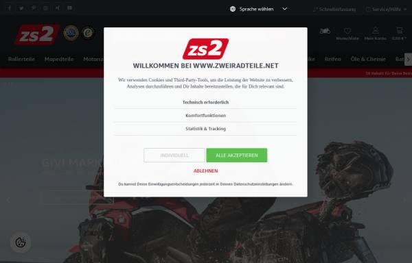 Vorschau von www.zweiradteile.net, ZS 2Radteile GmbH