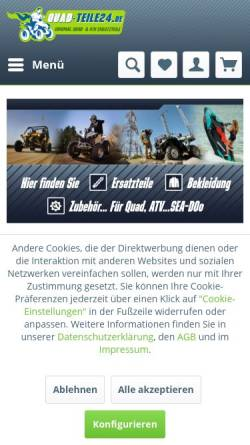 Vorschau der mobilen Webseite www.quad-teile24.de, Quad-Teile24 GmbH