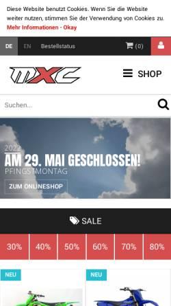 Vorschau der mobilen Webseite www.mxc.de, MXC GmbH, Stefan Blank