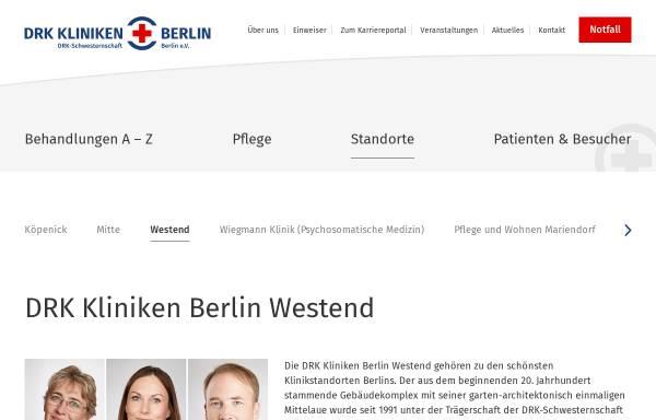 Vorschau von www.drk-kliniken-westend.de, DRK Kliniken Berlin Gemeinnützige Krankenhaus GmbH