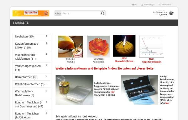 Kerzen-Idee, Andreas Dr. Kokott: Kerzen, Basteln kerzenidee.de