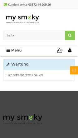 Vorschau der mobilen Webseite my-smoky.de, My-Smoky, Nico Stamm