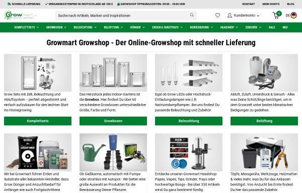 Vorschau von www.growmart.de, Growmart - Growshop