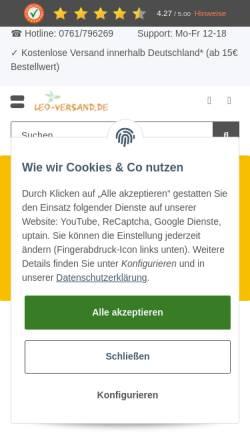 Vorschau der mobilen Webseite www.leoversand.de, Leo-Versand.de, Rainer Götz