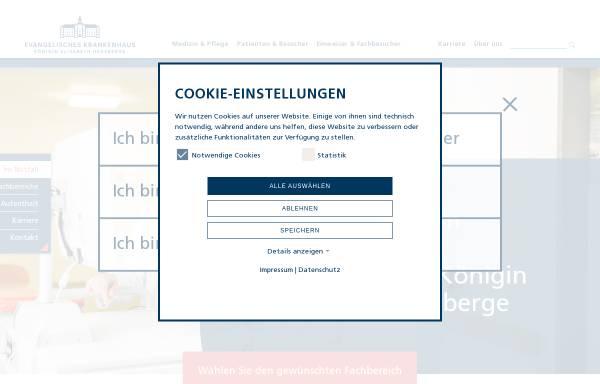 Vorschau von www.keh-berlin.de, Evangelisches Krankenhaus Königin Elisabeth Herzberge gGmbH