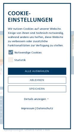 Vorschau der mobilen Webseite www.keh-berlin.de, Evangelisches Krankenhaus Königin Elisabeth Herzberge gGmbH