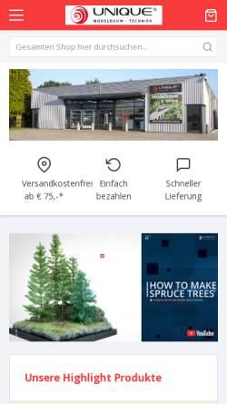 Vorschau der mobilen Webseite www.sceneryproducts.de, Unique Group B.V.