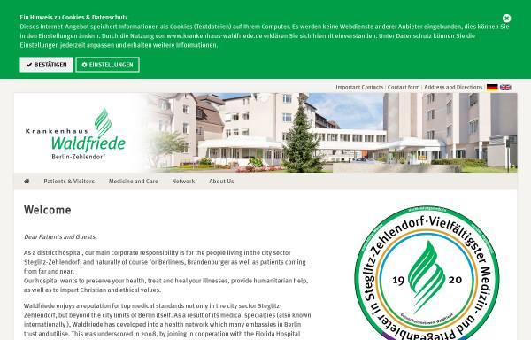 Vorschau von www.krankenhaus-waldfriede.de, Krankenhaus Waldfriede