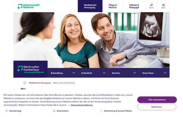 Vorschau von www.mlk-berlin.de, Martin-Luther-Krankenhaus