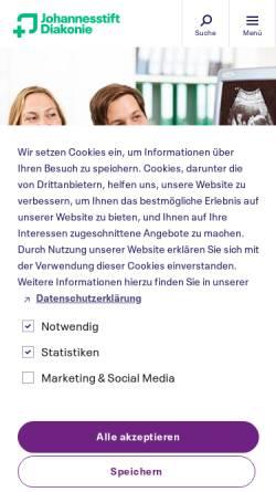Vorschau der mobilen Webseite www.mlk-berlin.de, Martin-Luther-Krankenhaus