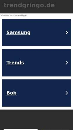 Vorschau der mobilen Webseite www.trendgringo.de, Fus.ion Germany GmbH