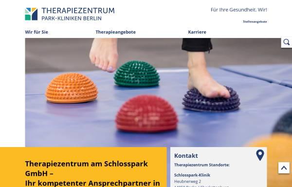 Vorschau von www.tzpark.de, Schlosspark-Klinik und Park-Klinik Weissensee