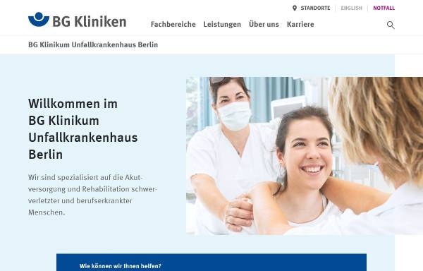 Vorschau von www.ukb.de, ukb - Unfallkrankenhaus Berlin