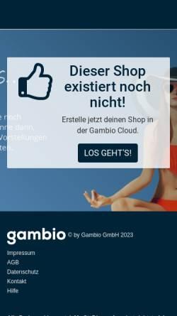 Vorschau der mobilen Webseite www.catstuff.de, Catstuff & Dogstuff, Sabine Neiß