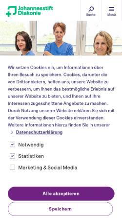Vorschau der mobilen Webseite www.pgdiakonie.de, Waldkrankenhaus Spandau