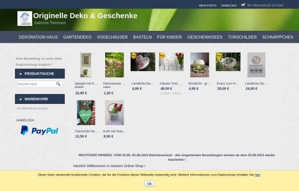 Vorschau von sabrina-temmen.eshop.t-online.de, Originelle Deko & Geschenke Sabrina Temmen