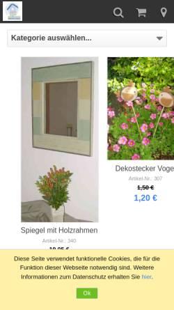 Vorschau der mobilen Webseite sabrina-temmen.eshop.t-online.de, Originelle Deko & Geschenke Sabrina Temmen